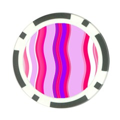 Pink Wave Purple Line Light Poker Chip Card Guard