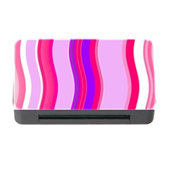 Pink Wave Purple Line Light Memory Card Reader With Cf by Alisyart