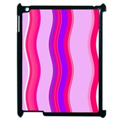 Pink Wave Purple Line Light Apple Ipad 2 Case (black) by Alisyart