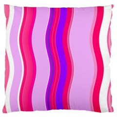 Pink Wave Purple Line Light Large Cushion Case (one Side) by Alisyart