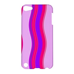 Pink Wave Purple Line Light Apple Ipod Touch 5 Hardshell Case by Alisyart
