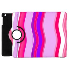 Pink Wave Purple Line Light Apple Ipad Mini Flip 360 Case by Alisyart