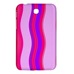 Pink Wave Purple Line Light Samsung Galaxy Tab 3 (7 ) P3200 Hardshell Case  by Alisyart