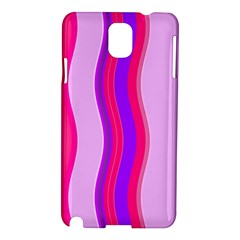 Pink Wave Purple Line Light Samsung Galaxy Note 3 N9005 Hardshell Case