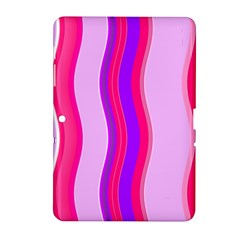 Pink Wave Purple Line Light Samsung Galaxy Tab 2 (10 1 ) P5100 Hardshell Case  by Alisyart