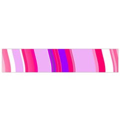 Pink Wave Purple Line Light Flano Scarf (small) by Alisyart