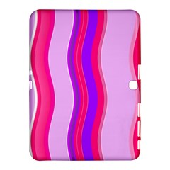 Pink Wave Purple Line Light Samsung Galaxy Tab 4 (10 1 ) Hardshell Case  by Alisyart