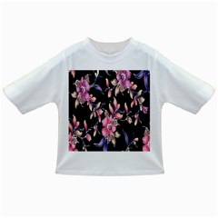 Neon Flowers Rose Sunflower Pink Purple Black Infant/toddler T Shirts