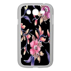 Neon Flowers Rose Sunflower Pink Purple Black Samsung Galaxy Grand Duos I9082 Case (white) by Alisyart