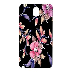 Neon Flowers Rose Sunflower Pink Purple Black Samsung Galaxy Note 3 N9005 Hardshell Back Case
