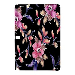 Neon Flowers Rose Sunflower Pink Purple Black Samsung Galaxy Tab Pro 10 1 Hardshell Case by Alisyart
