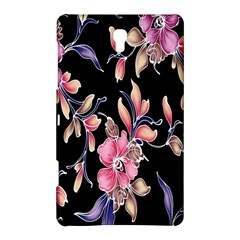 Neon Flowers Rose Sunflower Pink Purple Black Samsung Galaxy Tab S (8 4 ) Hardshell Case  by Alisyart
