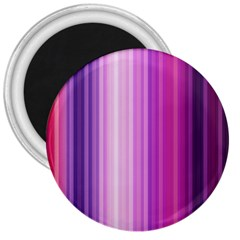 Pink Vertical Color Rainbow Purple Red Pink Line 3  Magnets by Alisyart