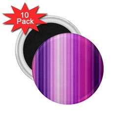 Pink Vertical Color Rainbow Purple Red Pink Line 2 25  Magnets (10 Pack)  by Alisyart