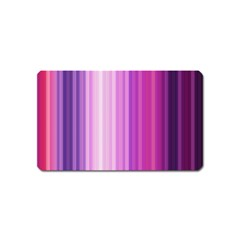 Pink Vertical Color Rainbow Purple Red Pink Line Magnet (name Card)