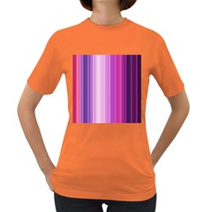 Pink Vertical Color Rainbow Purple Red Pink Line Women s Dark T-shirt by Alisyart