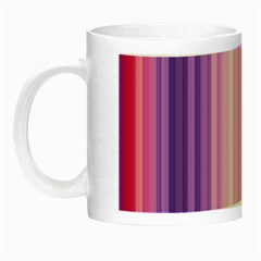 Pink Vertical Color Rainbow Purple Red Pink Line Night Luminous Mugs by Alisyart