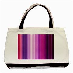 Pink Vertical Color Rainbow Purple Red Pink Line Basic Tote Bag by Alisyart