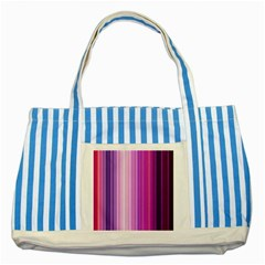 Pink Vertical Color Rainbow Purple Red Pink Line Striped Blue Tote Bag