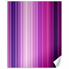 Pink Vertical Color Rainbow Purple Red Pink Line Canvas 11  X 14   by Alisyart