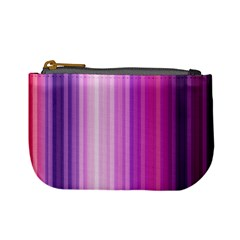 Pink Vertical Color Rainbow Purple Red Pink Line Mini Coin Purses