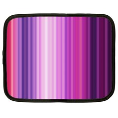 Pink Vertical Color Rainbow Purple Red Pink Line Netbook Case (xl)