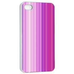 Pink Vertical Color Rainbow Purple Red Pink Line Apple Iphone 4/4s Seamless Case (white)