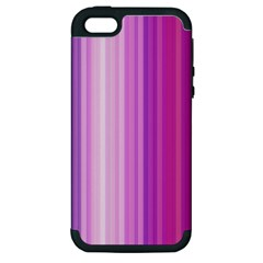 Pink Vertical Color Rainbow Purple Red Pink Line Apple Iphone 5 Hardshell Case (pc+silicone) by Alisyart
