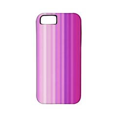 Pink Vertical Color Rainbow Purple Red Pink Line Apple Iphone 5 Classic Hardshell Case (pc+silicone) by Alisyart