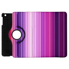 Pink Vertical Color Rainbow Purple Red Pink Line Apple Ipad Mini Flip 360 Case by Alisyart