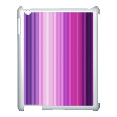 Pink Vertical Color Rainbow Purple Red Pink Line Apple Ipad 3/4 Case (white)