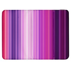 Pink Vertical Color Rainbow Purple Red Pink Line Samsung Galaxy Tab 7  P1000 Flip Case
