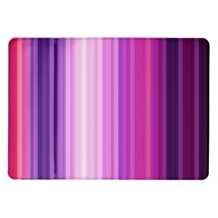 Pink Vertical Color Rainbow Purple Red Pink Line Samsung Galaxy Tab 10 1  P7500 Flip Case