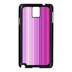 Pink Vertical Color Rainbow Purple Red Pink Line Samsung Galaxy Note 3 N9005 Case (black) by Alisyart