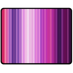 Pink Vertical Color Rainbow Purple Red Pink Line Double Sided Fleece Blanket (medium)  by Alisyart