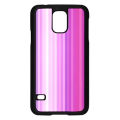 Pink Vertical Color Rainbow Purple Red Pink Line Samsung Galaxy S5 Case (black) by Alisyart