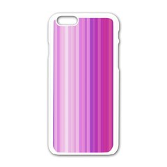 Pink Vertical Color Rainbow Purple Red Pink Line Apple Iphone 6/6s White Enamel Case by Alisyart