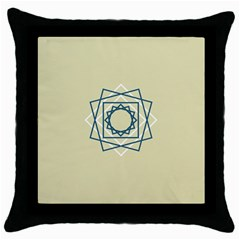 Shape Experimen Geometric Star Plaid Sign Throw Pillow Case (black)