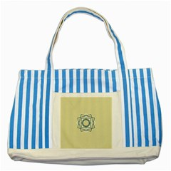 Shape Experimen Geometric Star Plaid Sign Striped Blue Tote Bag