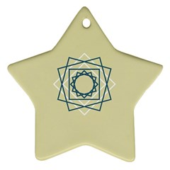 Shape Experimen Geometric Star Plaid Sign Star Ornament (two Sides)