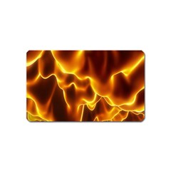 Sea Fire Orange Yellow Gold Wave Waves Magnet (name Card) by Alisyart