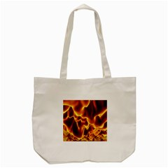 Sea Fire Orange Yellow Gold Wave Waves Tote Bag (cream) by Alisyart