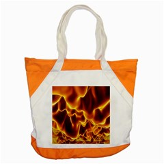 Sea Fire Orange Yellow Gold Wave Waves Accent Tote Bag