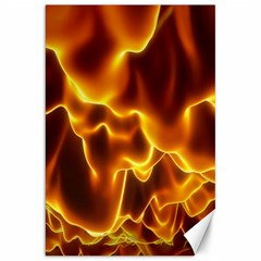 Sea Fire Orange Yellow Gold Wave Waves Canvas 20  X 30   by Alisyart