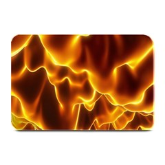 Sea Fire Orange Yellow Gold Wave Waves Plate Mats