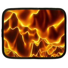 Sea Fire Orange Yellow Gold Wave Waves Netbook Case (large) by Alisyart