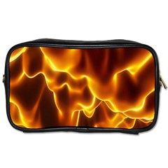 Sea Fire Orange Yellow Gold Wave Waves Toiletries Bags by Alisyart