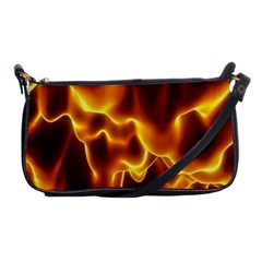 Sea Fire Orange Yellow Gold Wave Waves Shoulder Clutch Bags by Alisyart