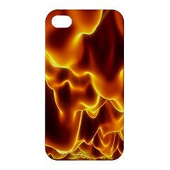 Sea Fire Orange Yellow Gold Wave Waves Apple Iphone 4/4s Premium Hardshell Case