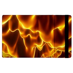 Sea Fire Orange Yellow Gold Wave Waves Apple Ipad 2 Flip Case by Alisyart
